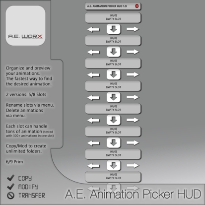 A.E. Animation Picker HUD