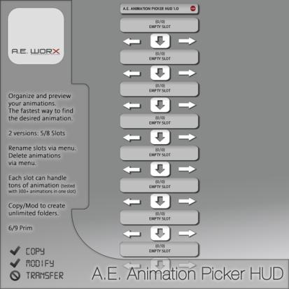 A.E. Animation Picker HUD