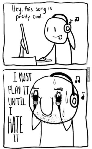 music on repeat