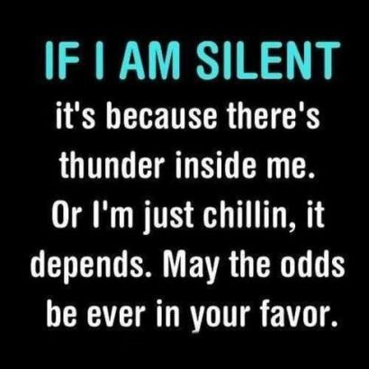 if i am silent