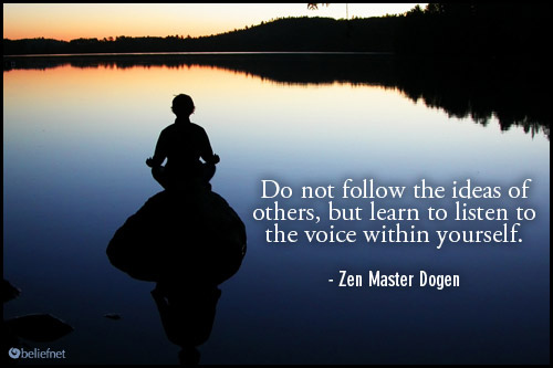 listen to the voice within